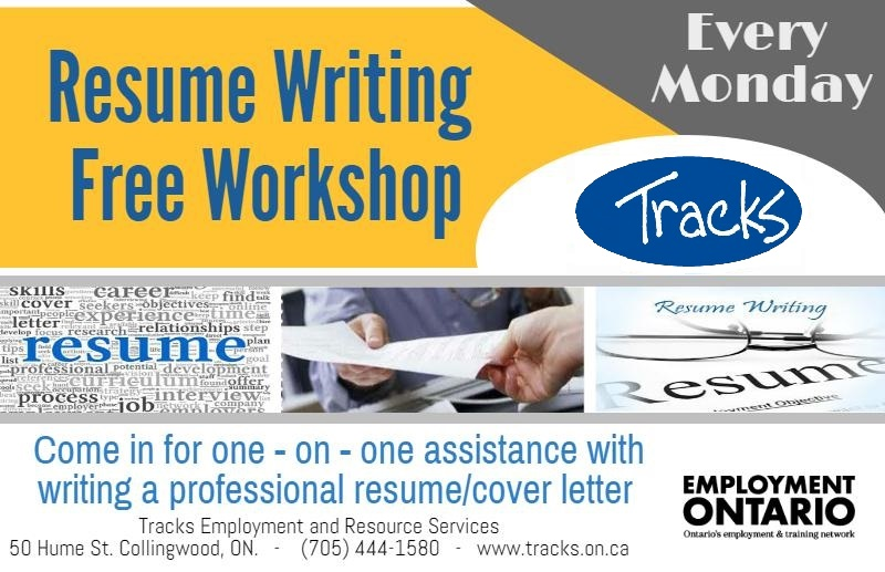 Resume Writing Tracks Employment Services One Stop Resource